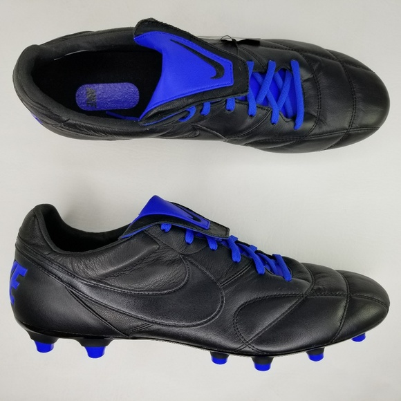 de5b25eba68f6 The Nike Premier II FG Soccer Cleats Black Blue NWT